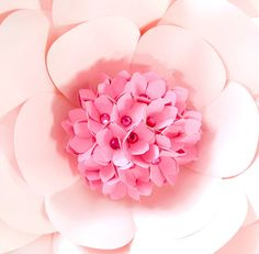 Honeysuckle Flower Template, Giant Paper Flower Center, DIY Flower Templates, Instant Download, Center ONLY