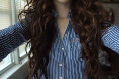 curly brown hair #favorites