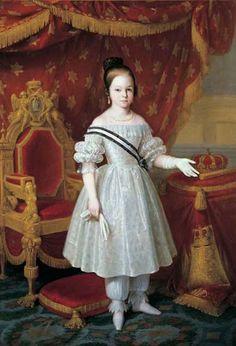 La futura Isabel II fue bautizada María Isabel Luisa; era hija del Rey Fernando VII y de su cuarta esposa, su sobrina María Cristina de Borbón-Dos Sicilias.