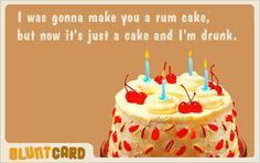 BluntCard--Rum Cake