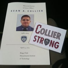 Memorial for Officer Sean A. Collier. #MIT #MITStrong #BostonStrong #CollierStrong