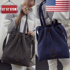 US Fashion Women Shoulder Bags Tote Canvas Large Hobo Messenger Travel Bags WZ #Unbranded #ShoulderBag