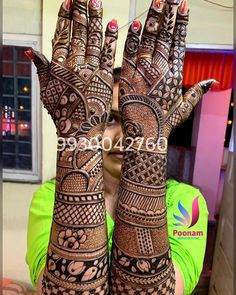Image may contain: indoor Latest Bridal Mehndi Designs, Floral Henna Designs, Latest Arabic Mehndi Designs, Full Hand Mehndi Designs, Legs Mehndi Design, Henna Art Designs, Modern Mehndi Designs, Dulhan Mehndi Designs, Wedding Mehndi Designs