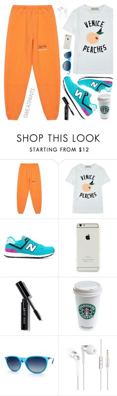 """""""hi"""" by sandevapetq ❤ liked on Polyvore featuring Heron Preston, Être Cécile, New Balance, Bobbi Brown Cosmetics and Ray-Ban"""