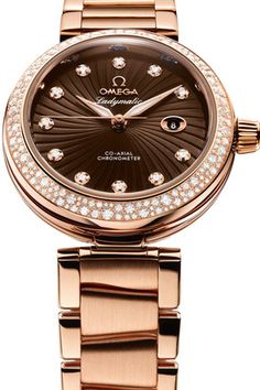 Omega Ladymatic brown dial