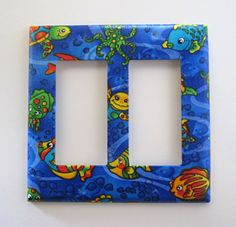 Decorative Light Switch Plate. Double Decora Rocker. Ideal for the children's bedroom or nursery.