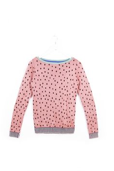 Watermelon Seeds Sweater by sheilacouture.  I met the designer and she is just amazing and so cute!