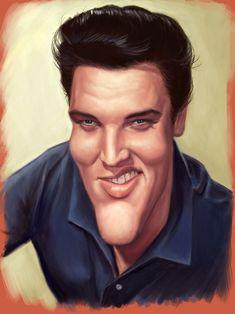 Elvis Presley by ~markdraws on deviantART