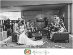 Greg & Kelsey's wedding at Historic 1625 in Tacoma by local Tacoma Wedding Photographer, Rebecca Anne Photography. #bridalparty #poses #groomsmen #bridesmaids