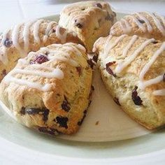 "Simple Scones | ""What a wonderful scone recipe. These turned out just slightly moist and not dried-out like other recipes I have tried."""