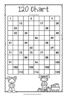 FREE - 120 Chart, Fill in the gaps, fall themed, plus many more fun 120 chart activities