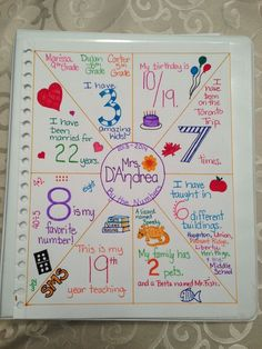 "First day ""about me by the numbers"" activity. Going to have my students put this on the first page of the Interactive Math Notebooks. First Day Of School Activities, 1st Day Of School, Beginning Of The School Year, School Fun, Math Activities, Math Resources, School Tips, School Ideas, Math Enrichment"