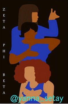 Zeta Phi Beta art by Yanna Yates