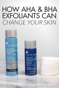 How AHA and BHA exfoliants can change your skin - they are amazing for anti aging and anti blemish! #PrimpLovesPaula #ad