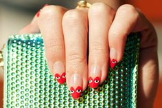 Comme des Garcons Play-Inspired Nails - Fashion | Popbee