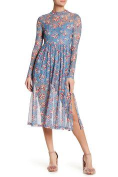 Mock Neck Floral Mesh Dress by Lush on @nordstrom_rack