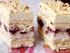 ciasto amoniakowe z wiśniami