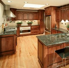 Beau Kitchen Granite Countertop Granite Kitchen, Kitchen Cabinets, Dark  Cabinets, Granite Countertops, Open