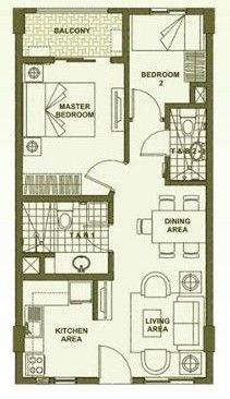 Accolade Place - 2-Bedroom Unit Floor Plan B (inner unit) #realEstate #condo #manilacondo www.mymanilacondo.com