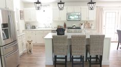 Kitchen Updates - White Farmhouse Kitchen, White Kitchen