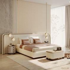 Modern Luxury Bedroom, Minimal Bedroom, Luxurious Bedrooms, Bedroom Setup, Home Bedroom, Bedroom Decor, Bed Headboard Design, Headboards For Beds, Luxury Homes Interior