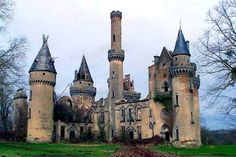 Chateau de Bagnac, France - work began on the castle in 1858. It fell into disrepair following the untimely death of its owner.