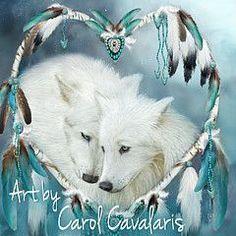 Dream Catcher - Spirit Of The White Wolf Mixed Media by Carol Cavalaris