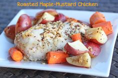 Roasted Maple Mustard Chicken from $5 Dinners