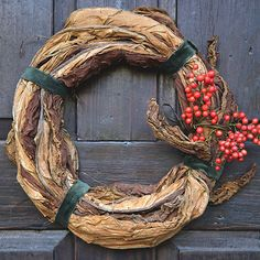 Southern holiday wreaths made from Tobacco (Garden & Gun)