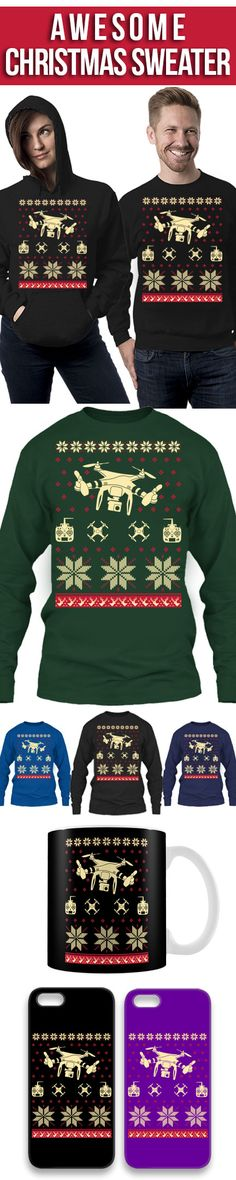 Drone Christmas Sweater! Click The Image To Buy It Now or Tag SomeoneYou Want To Buy This For. #drone