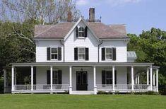 farmhouse plans with wrap around porch   Farm House Porches   Country Porches   Wrap Around Porches