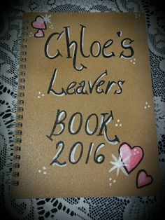 Check out this item in my Etsy shop https://www.etsy.com/uk/listing/294444229/personalised-school-leavers-journal-note
