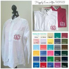7 Wedding Shirts Custom Embroidery Pocket Mongram Wedding Party Bride, Maid Of Honor, Bridesmaid Accessories on Etsy, $252.00