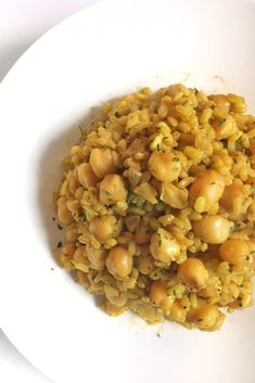 food_drink - Arroz con garbanzos al curry Chickpea Recipes, Veggie Recipes, Salad Recipes, Vegetarian Recipes, Healthy Cooking, Healthy Eating, Cooking Recipes, Healthy Recepies, Healthy Snacks