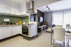 Cozinha integrada : Cozinhas modernas por Lopez interiores