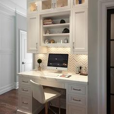 office nook in living room desk areas - office nook in living room ; office nook in living room small spaces ; office nook in living room desk areas ; office nook in living room built ins Kitchen Work Station, Kitchen Desks, Kitchen Office Nook, Kitchen Grey, Kitchen Corner, Kitchen Desk Areas, Kitchen Cupboards, Kitchen Backsplash, Kitchen Built Ins