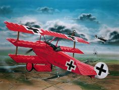 The Revell Fokker Dr.I Richthofen plastic aircraft model accurately recreates the real life fighter triplane flown by the famous Red Baron during World War I. This plastic aircraft kit requires paint and glue to complete. Manfred Von Richthofen, Fokker Dr1, Aircraft Design, World War One, Fighter Aircraft, Fighter Jets, Aviation Art, Model Airplanes, Military Art