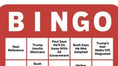 Republican Debate Bingo