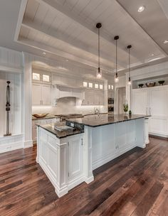 Kitchen with Old Wood Floors - homebunch.com = Interior Design Ideas