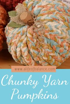Pumpkins! Pumpkins! Pumpkins! I don't know about you but I can't get enough of them. I made these cute, chunky yarn wrapped pumpkins that I want to share with you. These easy diy pumpkins are made from Dollar Tree foam pumpkins and chunky knit yarn. Follow the tutorial to make yarn pumpkins with lots of texture and charm. Styrofoam pumpkins are the perfect diy pumpkins because you can use them year after year. #pumpkins #yarnpumpkin #fallcrafts #diypumpkin Dollar Tree Pumpkins, Foam Pumpkins, Chunky Knit Yarn, Diy Pumpkin, Fall Crafts, Burlap Wreath, Fall Decor, Easy Diy, Crafty