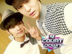 Leo and Hakyeon ♡ #VIXX // M!Countdown Backstage 140109