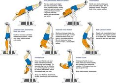 If you have any inversion table at home, you can try these exercises.