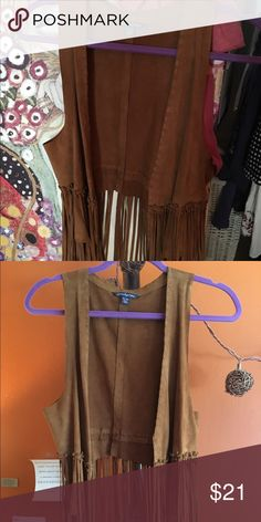 Selling this American Eagle suede vest on Poshmark! My username is: bassclarinet. #shopmycloset #poshmark #fashion #shopping #style #forsale #American Eagle Outfitters #Jackets & Blazers