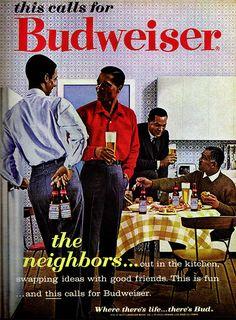 "1962 Magazine Advertisement ""This calls for Budweiser"" Budweiser Beer USA"