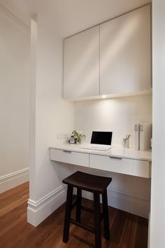 37 Trendy home office ideas modern study nook Alcove Desk, Desk Nook, Alcove Ideas Bedroom, Bedroom Decor, Cool Office Space, Office Nook, Ikea Office, Hallway Office, Tiny Office