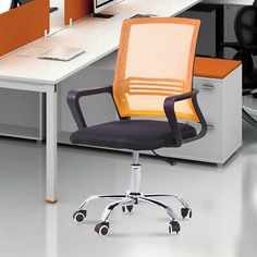 Mesh Chair Ergonomic Executive Swivel Office Chair Computer Desk Mid-Back Chair #affilink Gaming Computer Desk, Mesh Chair, Swivel Office Chair, Art Desk, Small Spaces, Furniture, Home Decor, Interior Design, Home Interior Design