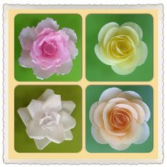 Four Variations of Wafer Paper Flowers