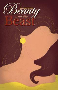 Disney Minimalist Poster - Beauty & the Beast Fera Disney, Arte Disney, Disney Magic, Disney Art, Disney And More, Disney Love, Disney Belle, Disney And Dreamworks, Disney Pixar