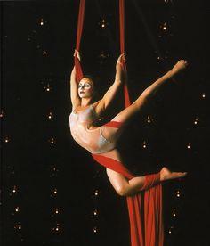 Aerial Contortion in Silk--Cirque du Soleil's Quidam