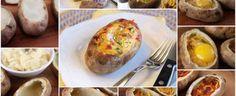 Batata Recheada com Ovo, Bacon e Queijo